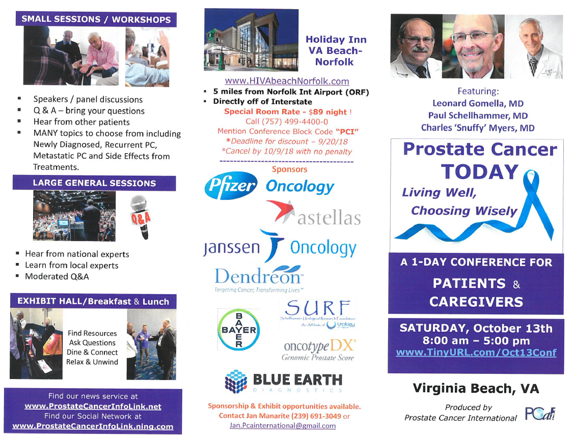 Prostate Cancer Today Seminar Coming October 13th