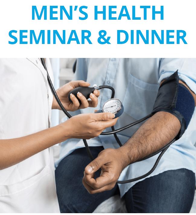 Men's Health Seminar and Dinner, September 27th
