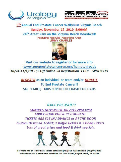 Register today!  Run This One – No More Prostate Cancer-  ZERO !!!!