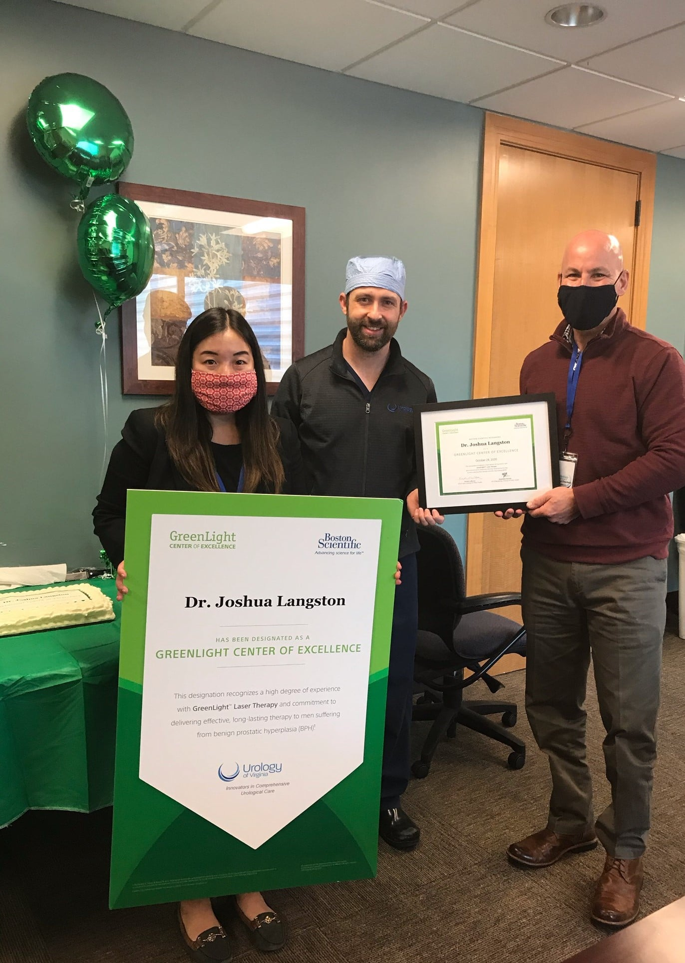 Congratulations to Dr. Joshua Langston for being designated a GreenLight Center of Excellence!
