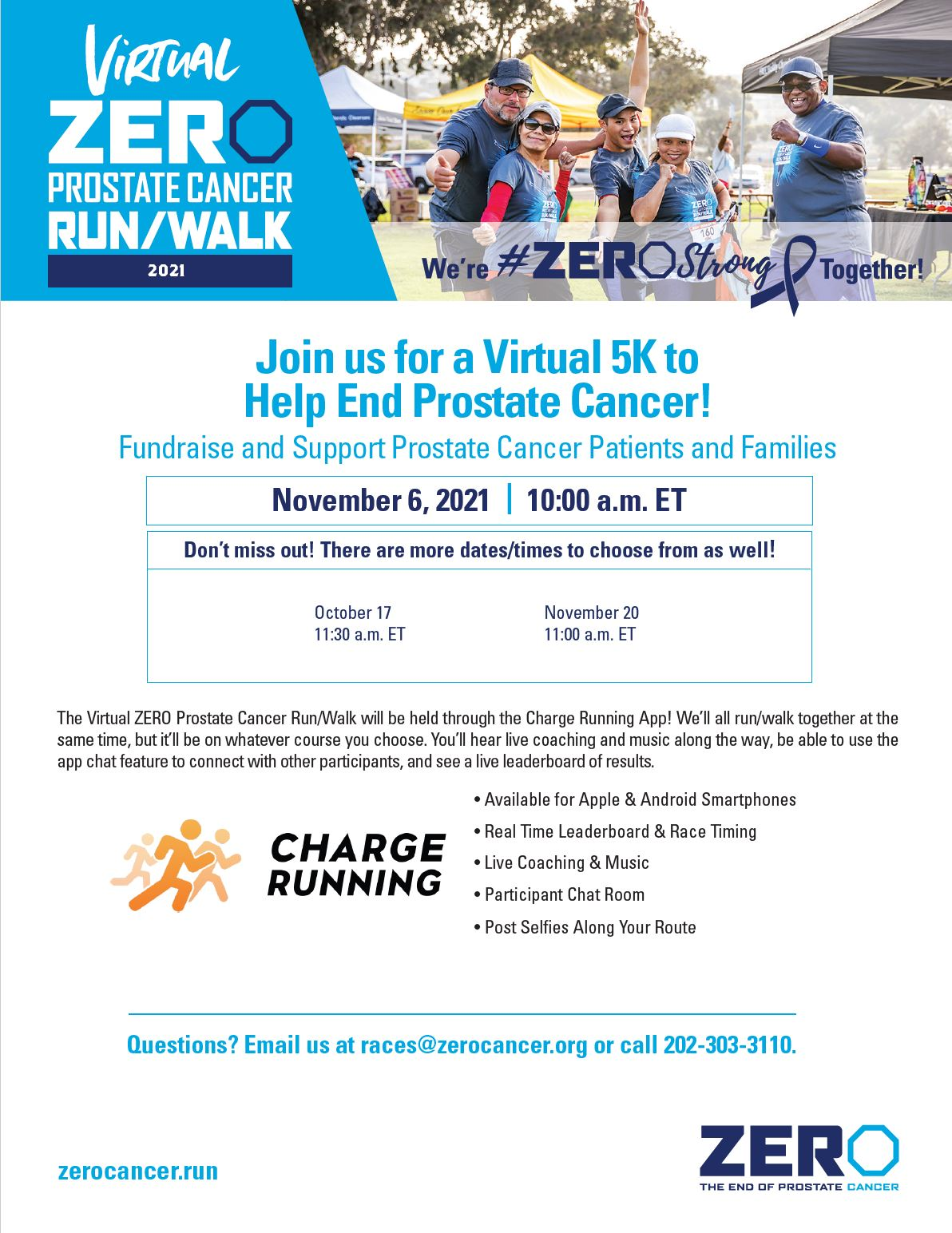 ZERO is virtual this year, here is the information you need to help us end prostate cancer!!